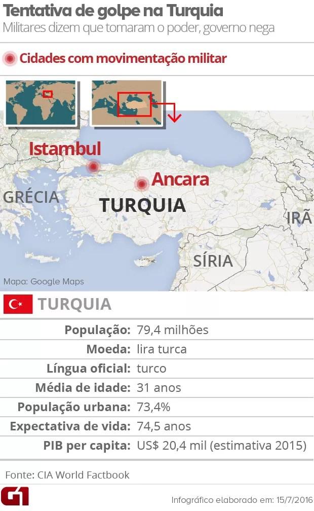 Mapa Turquia 2 (Foto: Editoria de Arte/G1)