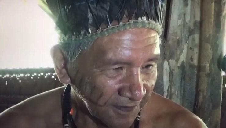 Indígena reorganizou o povo Puynawa ainda na década de 80  — Foto: Acervo/Rede Amazônica Acre
