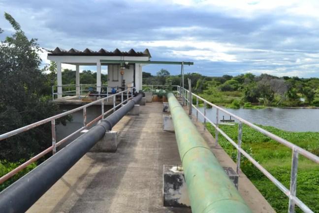 Captação de água em Jardim de Piranhas, RN, feita pela Caern — Foto: Caern/Divulgação