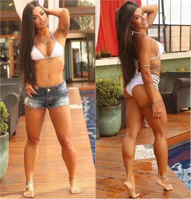 Aline Riscado dá fórmula da cintura fina e perna grossa: Tenho 60 cm de cintura e meu manequim 36. Acho que o jeito é malhar mais perna e bumbum para ajudar a realça a cintura (Foto: Ag. News)