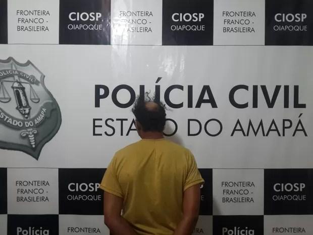 Suspeito de estupro foi detifo na delegacia de Oiapoque,  no Amapá (Foto: Divulgação/Polícia Civil)