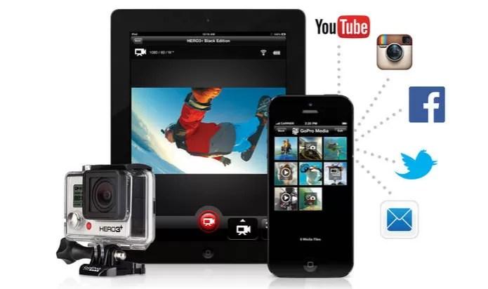 Aplicativo é compatível com vários dispositivos (Foto: Divulgação/GoPro) (Foto: Aplicativo é compatível com vários dispositivos (Foto: Divulgação/GoPro))