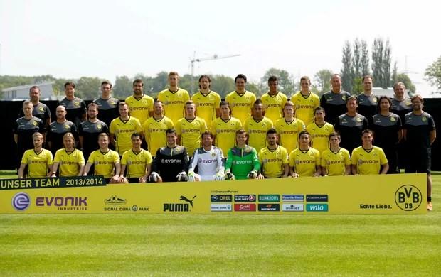 Apresentação elenco Borussia Dortmund (Foto: Reuters)