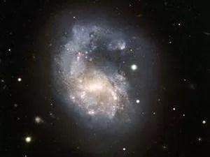 Galáxia indicada pelos estudantes (Foto: Arquivo pessoal/Giovana)