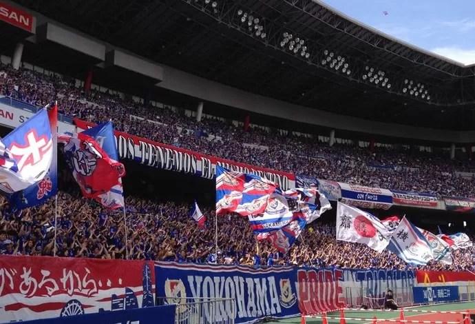 Torcida Yokohama Marinos (Foto: Reprodução/Facebook)