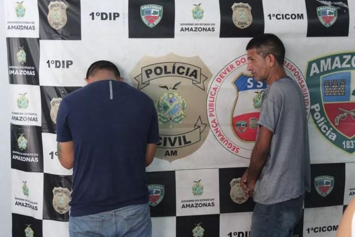 Dupla suspeita de ter envolvimento com o crime foi presa — Foto: Rickardo Marques/G1 AM