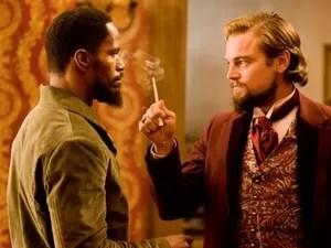 Jamie Foxx e Leonardo DiCaprio em cena de 'Django livre' (Foto: Divulgação/The Weinstein Company)