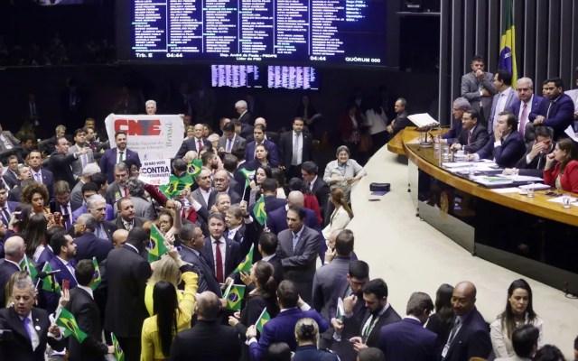 Plenário da Câmara durante a votação da reforma da Previdência, nesta quarta-feira (11) — Foto: Luis Macedo/Câmara dos Deputados
