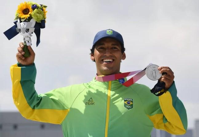 Kelvin Hoefler, medalha de prata Olimpíadas Tóquio 2020 — Foto: REUTERS/Toby Melville