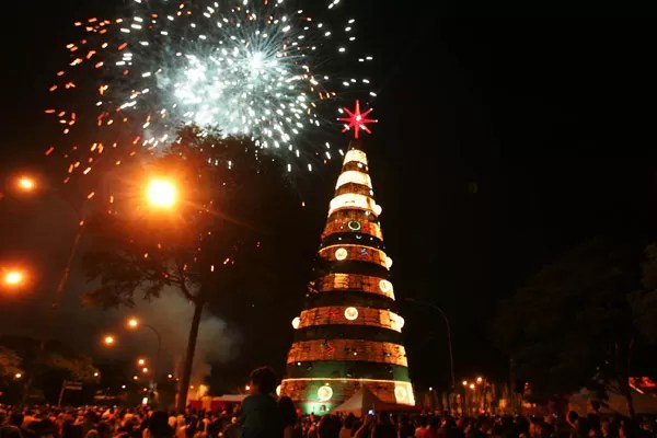Árvore de Natal do Ibirapuera em 2007 (Foto: Alex Silva/AE)