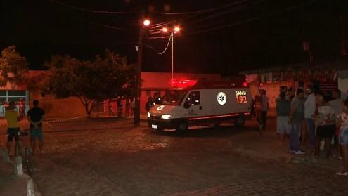 Duplo homicídio aconteceu na Zona Sul de João Pessoa, no bairro de Mangabeira — Foto: Reprodução/TV Cabo Branco