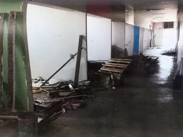 Área do imóvel não é usada pela 2ª Delegacia Seccional de Campinas, SP (Foto: Reprodução / Ministério Público)