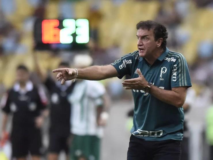 Cuca ganhou o Brasileiro de 2016 no comando do Palmeiras — Foto: André Durão