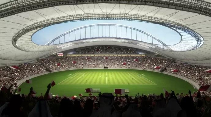 Khalifa International Stadium visão interna