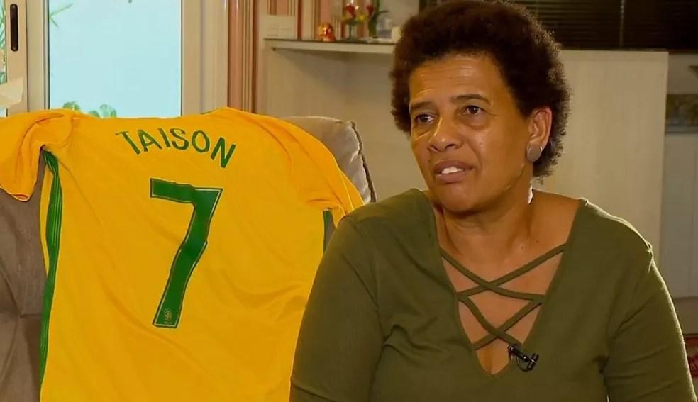 Mãe de Taison foi sequestrada em Pelotas (Foto: Reprodução/RBS TV)