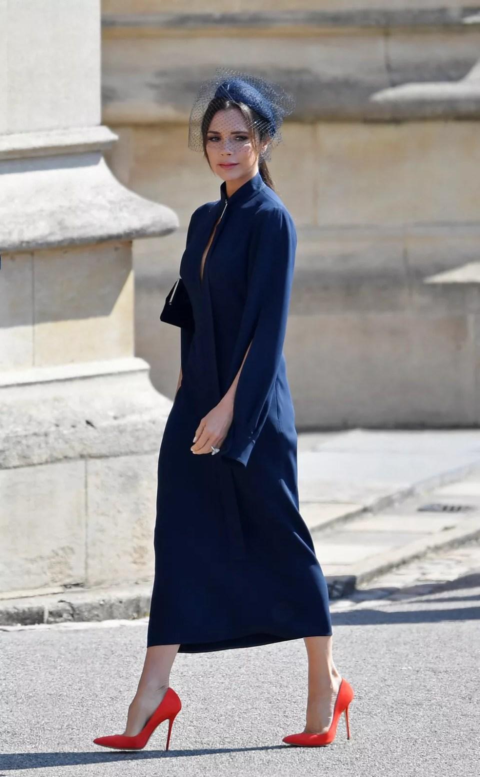 David e Victoria Beckham chegam para o casamento de Harry e Meghan (Foto: Toby Melville/Pool/Reuters)