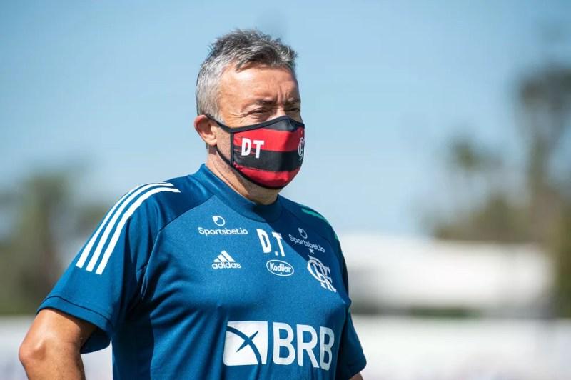 Domènec Torrent, técnico do Flamengo — Foto: Alexandre Vidal / Flamengo