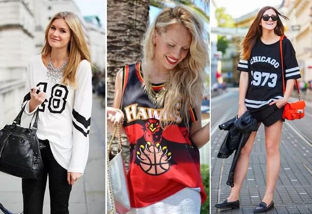 Camisetas de basquete ganham toque fashion nas ruas  (Foto: Reprodução )