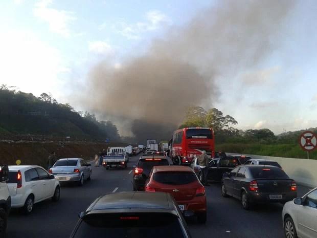 protesto rodovia dos bandeirantes (Foto: G1)