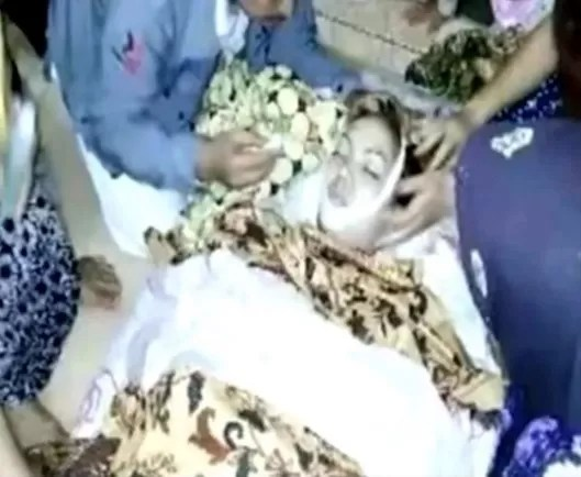 O enterro do corpo da cantora pop