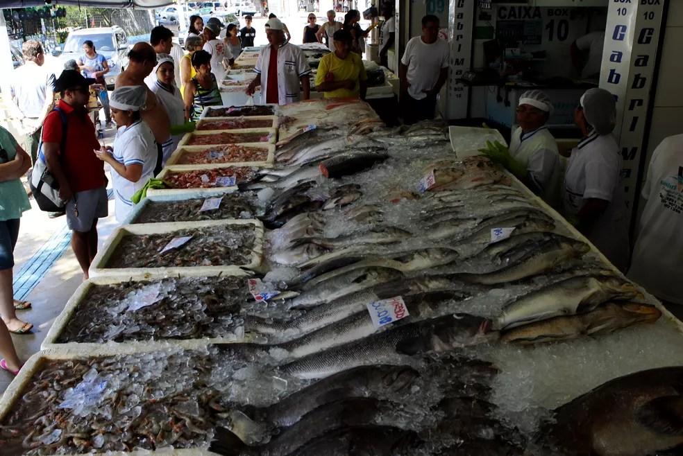 Mercado de Peixe, em Santos, SP — Foto: Carlos Nogueira/A Tribuna de Santos