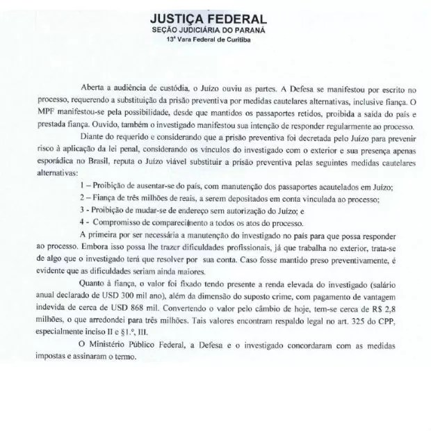 Decisão da Justiça mostra as condições para a libertação de Mariano Marcondes Ferraz (Foto: Reprodução)