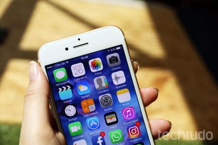 Geekbench faz teste de velocidade no processador do iPhone (Foto: Anna Kellen Bull/TechTudo)