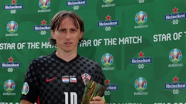 Luka Modric foi eleito o melhor em campo de Croácia x República Tcheca