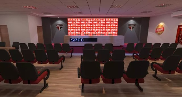 Sala de imprensa do estádio do Morumbi será bem maior do que a atual (Foto: GloboEsporte.com)