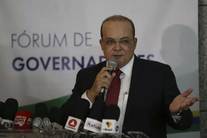 O governador do Distrito Federal, Ibaneis Rocha — Foto: José Cruz/Agência Brasil