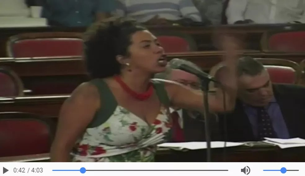 Vereadora Talíria Petrone, de Niterói (Foto: Reprodução/WhatsApp)