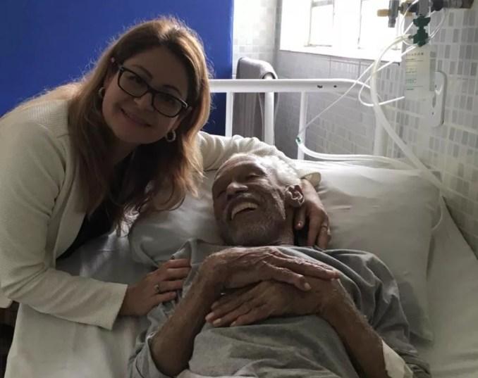 Ana Maria conviveu com Joaquim no asilo onde viveu seus últimos meses. — Foto: Arquivo pessoal