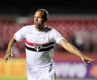 Luis Fabiano, São Paulo X Bahia (Foto: Marcos Ribolli)