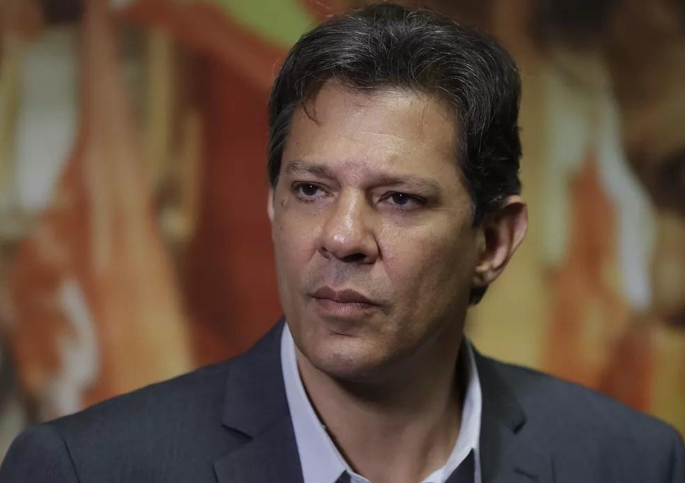Fernando Haddad, candidato à Presidência — Foto: Andre Penner/AP
