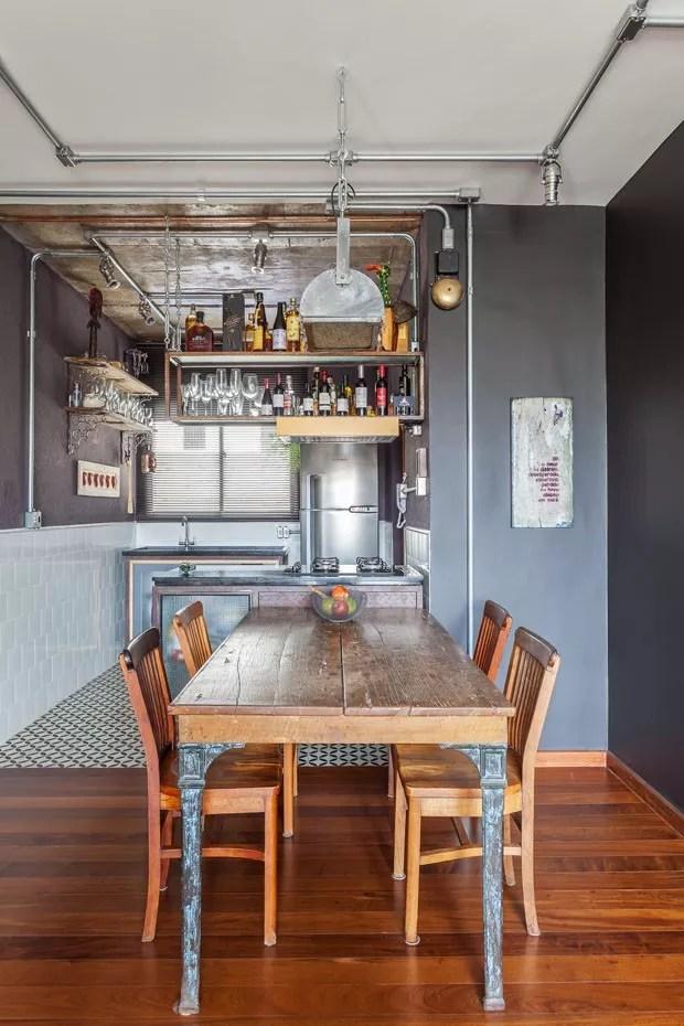 Top 10 salas de jantar com decoração industrial (Foto: divulgaçao)