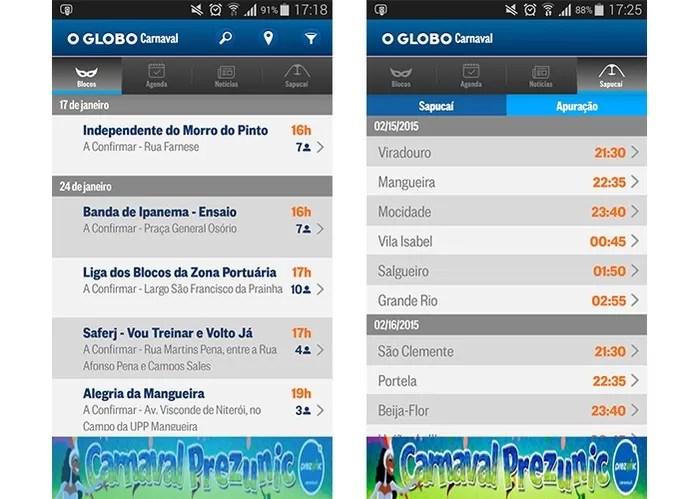 Aplicativo Carnaval 2016 O Globo (Foto: Divulgação/Google Play)