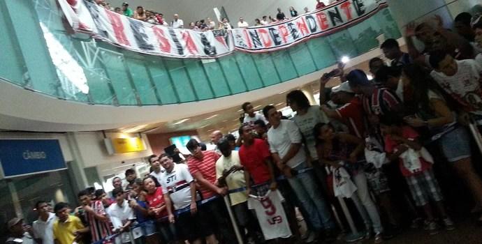 Desembarque São Paulo (Foto: Viviane Leão/GloboEsporte.com)