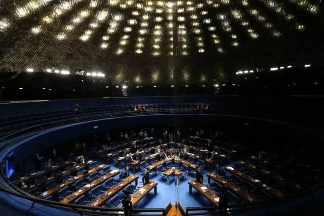 Plenário do Senado Federal — Foto: Reprodução/TVGlobo