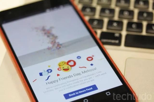 Dia do Amigo do Facebook traz de volta vídeo com momentos marcantes em fotos (Foto: Melissa Cruz / TechTudo)