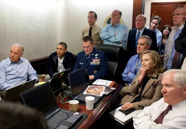 Hillary, então secretária de Estado, acompanha missão que matou Osama Bin Laden (Foto: The White House/Divulgação)