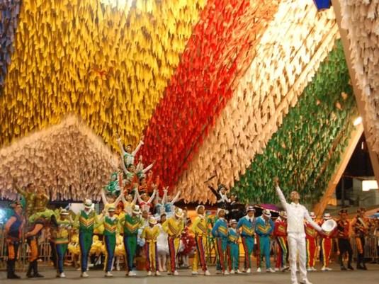 Pirâmide do Parque do Povo é palco para apresentação de quadrilhas juninas no São João de Campina Grande — Foto: Taiguara Rangel/G1/Arquivo