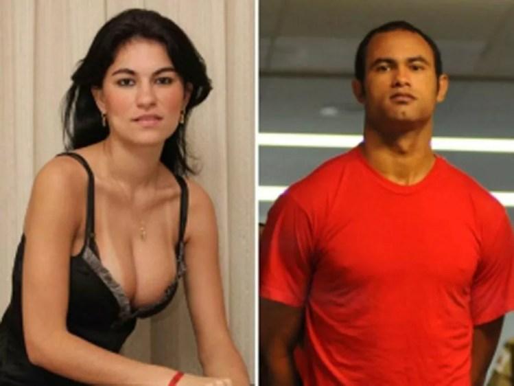 Eliza Samudio e o goleiro Bruno Fernandes — Foto: Reprodução / Arquivo Pessoal / TV Globo