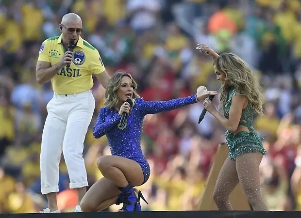 Claudia e J.Lo (Foto: AFP)