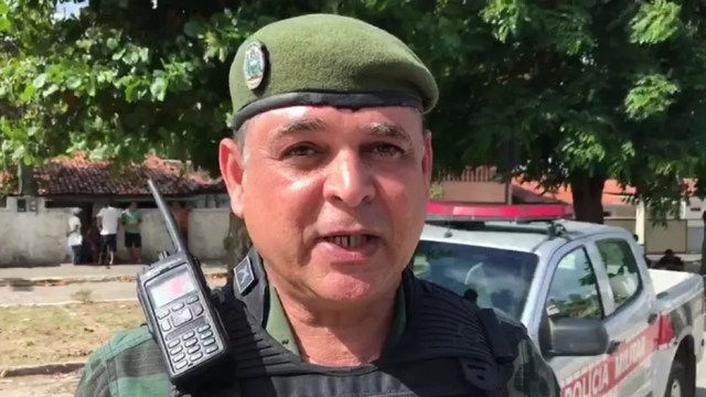 Ten. Dornelas do Batalhão da Polícia Ambiental (BPAmb) disse que suspeitos não roubaram nada das vítimas (Foto: Walter Paparazzo/G1)