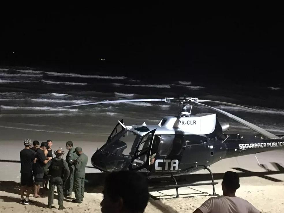 Centro Tático Aéreo (CTA) realiza buscas por kitesurfista após acidente em alto mar em São Luís (MA) — Foto: Reprodução/Redes sociais