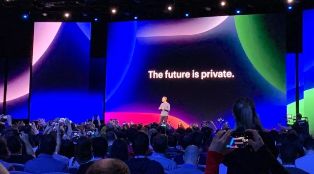 Mark Zuckerberg em evento do Facebook nos Estados Unidos — Foto: Thiago Lavado/G1