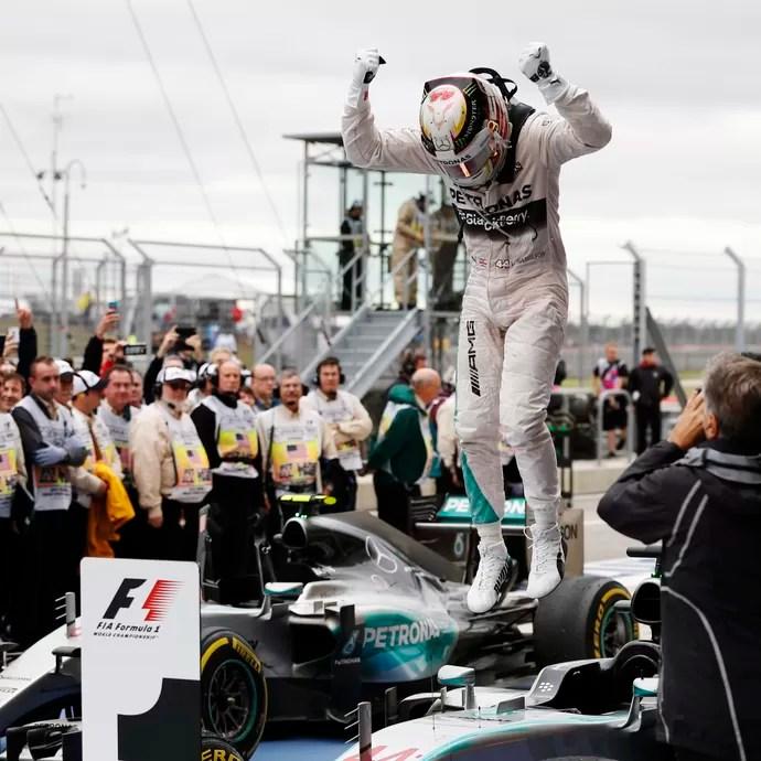 Hamilton campeão Circuito das Américas (Foto: John Locher/AP)