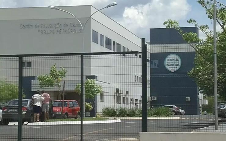 Hospital do Câncer de Jales também foi afetado pelo ciberataque (Foto: Reprodução/TV TEM)