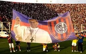 bandeira San Lorenzo Papa Francisco  (Foto: Ap)