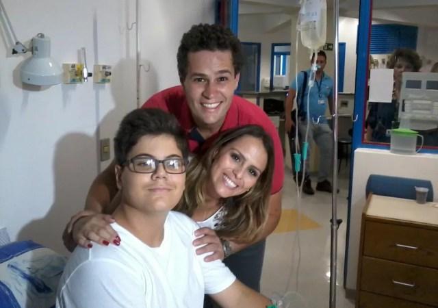 Álvaro Pagliarini durante o tratamento no Centro Infantil Boldrini, em Campinas (SP) — Foto: Arquivo pessoal